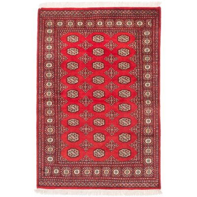 Onondaga Hand-Knotted Red Area Rug