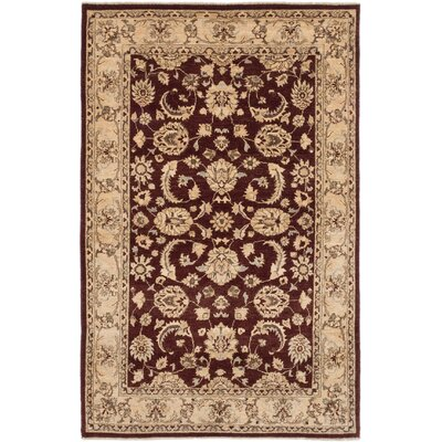 One-of-a-Kind Peshawar Oushak Hand-Knotted Brown Area Rug