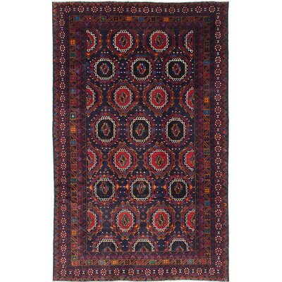 One-of-a-Kind Ingham Hand-Knotted Blue Area Rug