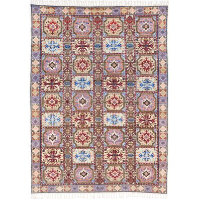 Royal Maroc Hand-Knotted Blue/Red Area Rug