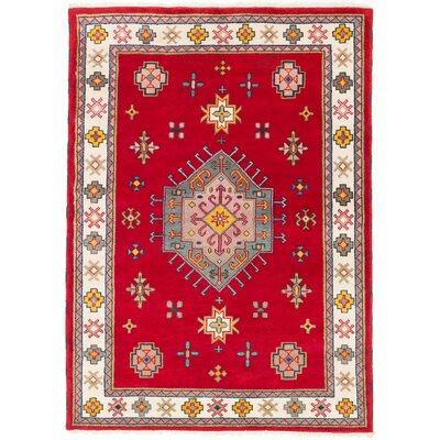 Royal Kazak Hand-Knotted Ivory/Red Area Rug