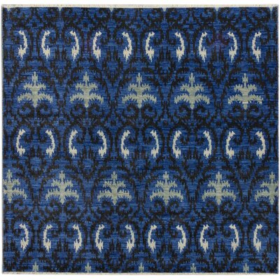Finest Ushak Hand-Knotted Dark Blue Area Rug
