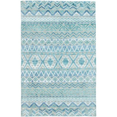 Wan Hand-Knotted Teal Area Rug