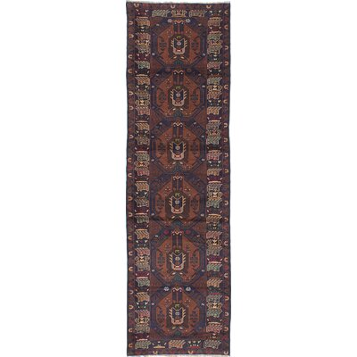 Shaffer Hand-Knotted Navy/Brown Area Rug