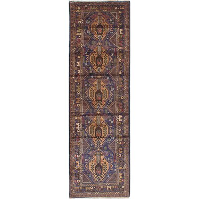 Brownes Hand-Knotted Navy Area Rug