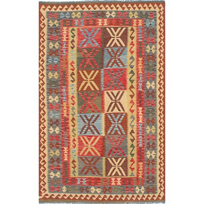 One-of-a-Kind Olmsted Handmade Wool Red Area Rug