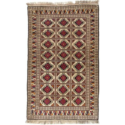 Shaffer Hand-Knotted Brown/Ivory Area Rug