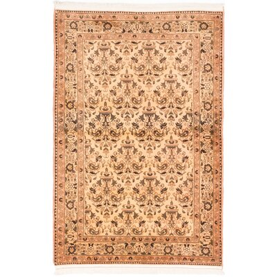 One-of-a-Kind Roodbar Hand-Knotted Ivory/Yellow Area Rug