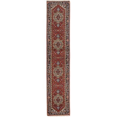 Serapi Heritage Hand-Knotted Dark Orange Area Rug