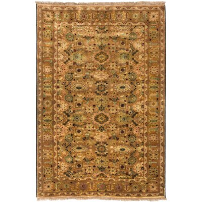 Royal Ushak Hand-Knotted Brown/Ivory Area Rug