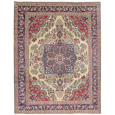 Rosas Hand-Knotted Blue/Red Area Rug
