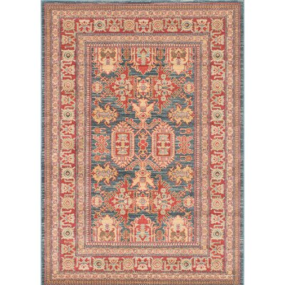 Ziegler Navy/Red Area Rug Rug Size: Rectangle 5 x 7