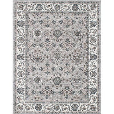 Paradis Cream/Gray Area Rug Rug Size: 82 x 1010