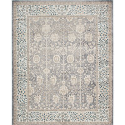 Ziegler Cream/Gray Area Rug Rug Size: 8 x 10