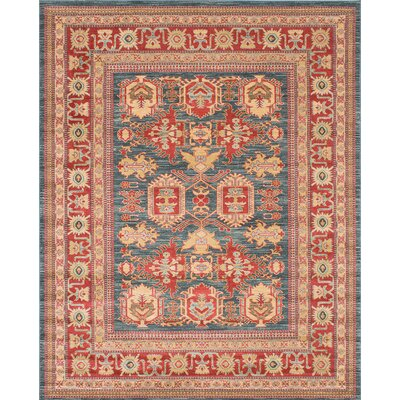 Ziegler Navy/Red Area Rug Rug Size: Rectangle 8 x 10