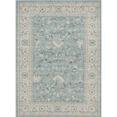 Ziegler Light Cyan Area Rug Rug Size: Rectangle 5 x 7