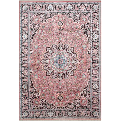 One-of-a-Kind Kashmir Hand-Knotted Pink Area Rug