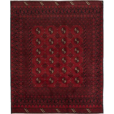 One-of-a-Kind Bridges Traditional Hand-Knotted Rectangle Wool Red Indoor Area Rug