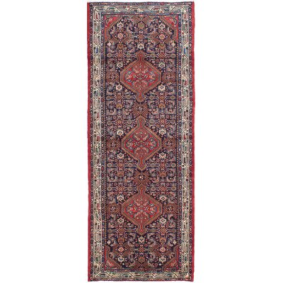 Koliai Hand-Knotted Red/Blue Area Rug