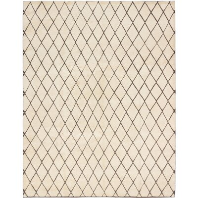 Zagora Hand-Knotted Cream Area Rug