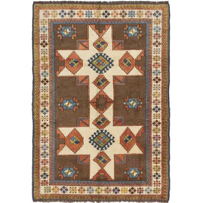 One-of-a-Kind Shiravan Hand-Knotted Brown Area Rug