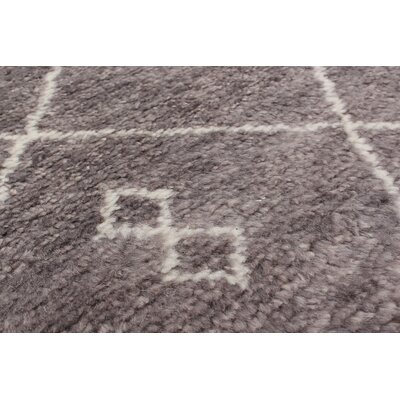 One-of-a-Kind Bridgewater Hand-Knotted Dark Gray Area Rug