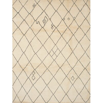 Bridgewater Hand-Knotted Cream/Dark Gray Area Rug
