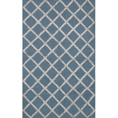 Cambridge Handmade Light Gray/Turquoise Area Rug