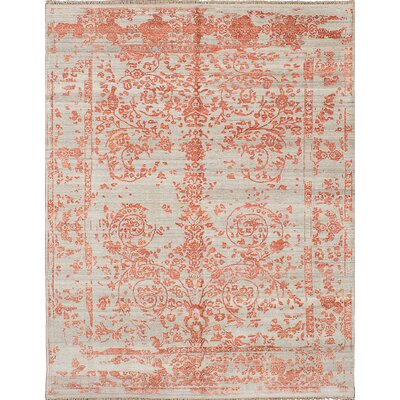 Elixir Hand-Knotted Copper/Cream Area Rug