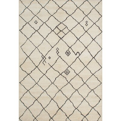 Bridgewater Hand-Knotted Cream/Dark Brown Area Rug