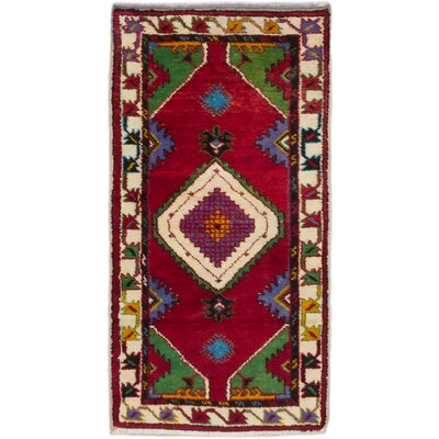 Anadol Hand-Knotted Red Area Rug