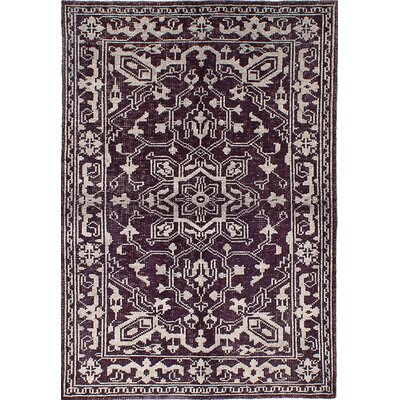One-of-a-Kind Houston Hand-Knotted Violet/Gray Area Rug