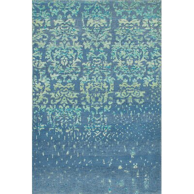La Seda Hand-Knotted Light Turquoise Area Rug
