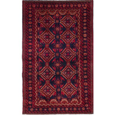 Baluch Hand-Knotted Blue/Red Area Rug
