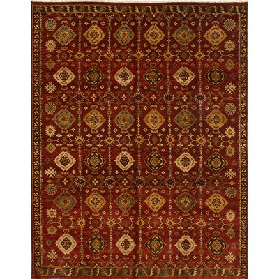 One-of-a-Kind Serapi Heritage Hand-Knotted Red Area Rug