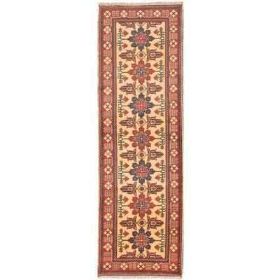 One-of-a-Kind Kargahi Hand-Knotted Red/Blue Area Rug