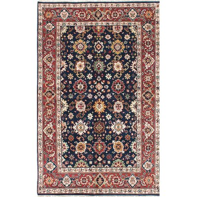 One-of-a-Kind Baldry Hand-Knotted Blue/Red Area Rug