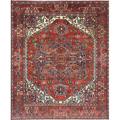 Serapi Heritage Hand-Knotted Orange Area Rug