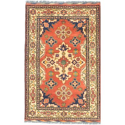 One-of-a-Kind Kargahi Hand-Knotted Orange/Yellow Area Rug