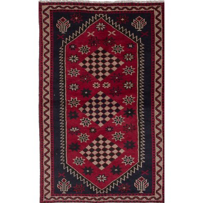 Witt Hand-Knotted Blue/Red Area Rug