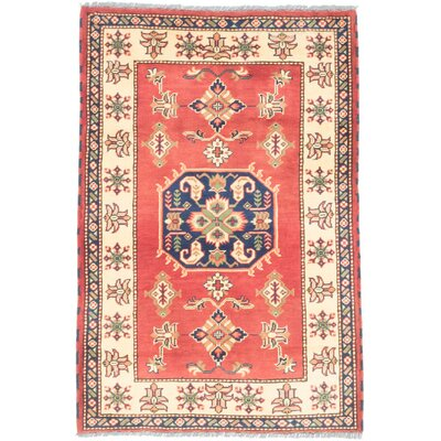 Kargahi Hand-Knotted Orange/Yellow Area Rug