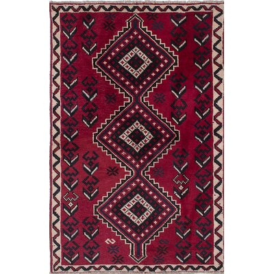 Witt Hand-Knotted Black/Red Area Rug