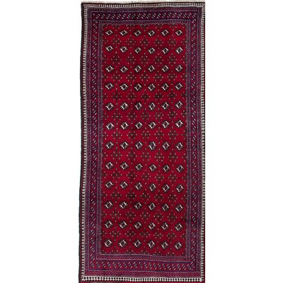 One-of-a-Kind Baluch Hand-Knotted Blue/Red Area Rug