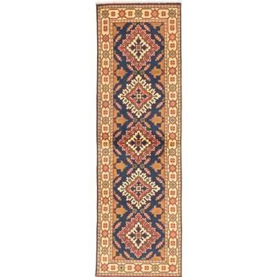 One-of-a-Kind Kargahi Hand-Knotted Blue/Yellow Area Rug