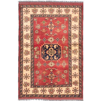 Kargahi Hand-Knotted Red Area Rug