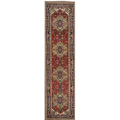 One-of-a-Kind Baldry Hand-Knotted Red / Yellow Area Rug