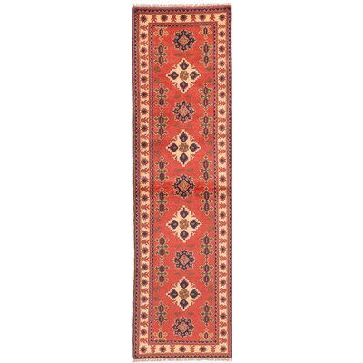 One-of-a-Kind Kargahi Hand-Knotted Orange Area Rug