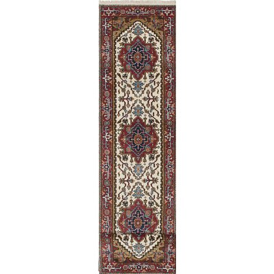 One-of-a-Kind Serapi Heritage Hand-Knotted Brown/Beige Area Rug
