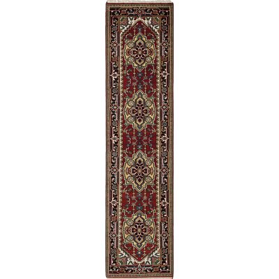 One-of-a-Kind Serapi Heritage Hand-Knotted Red/Yellow Area Rug