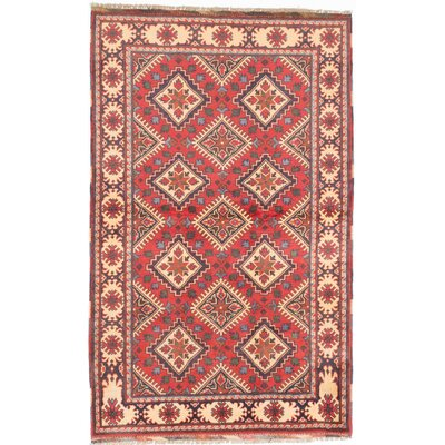One-of-a-Kind Kargahi Hand-Knotted Red Area Rug